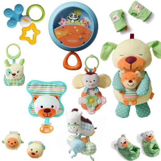 comforting play collection from infantino