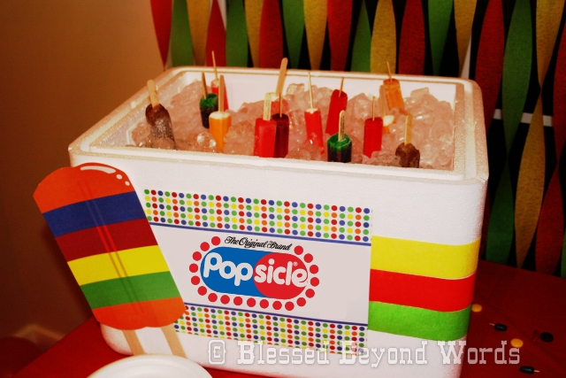 popsicle party ice chest