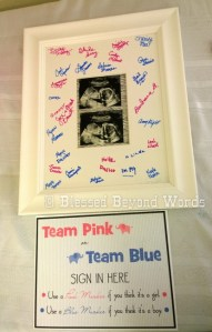Gender Reveal Baby Shower Sign In Freebie