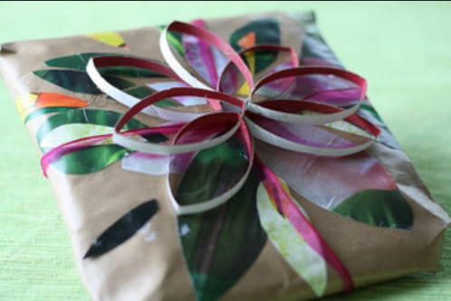 hand wrapped gift