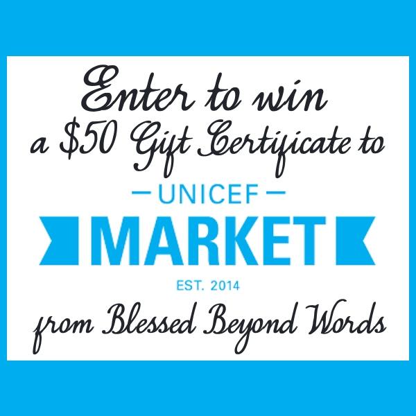 win a unicef market gift certificate