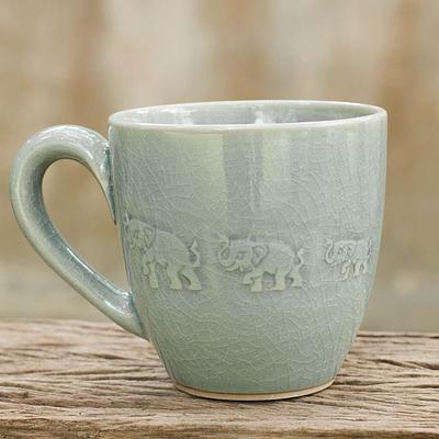 elephant parade mug