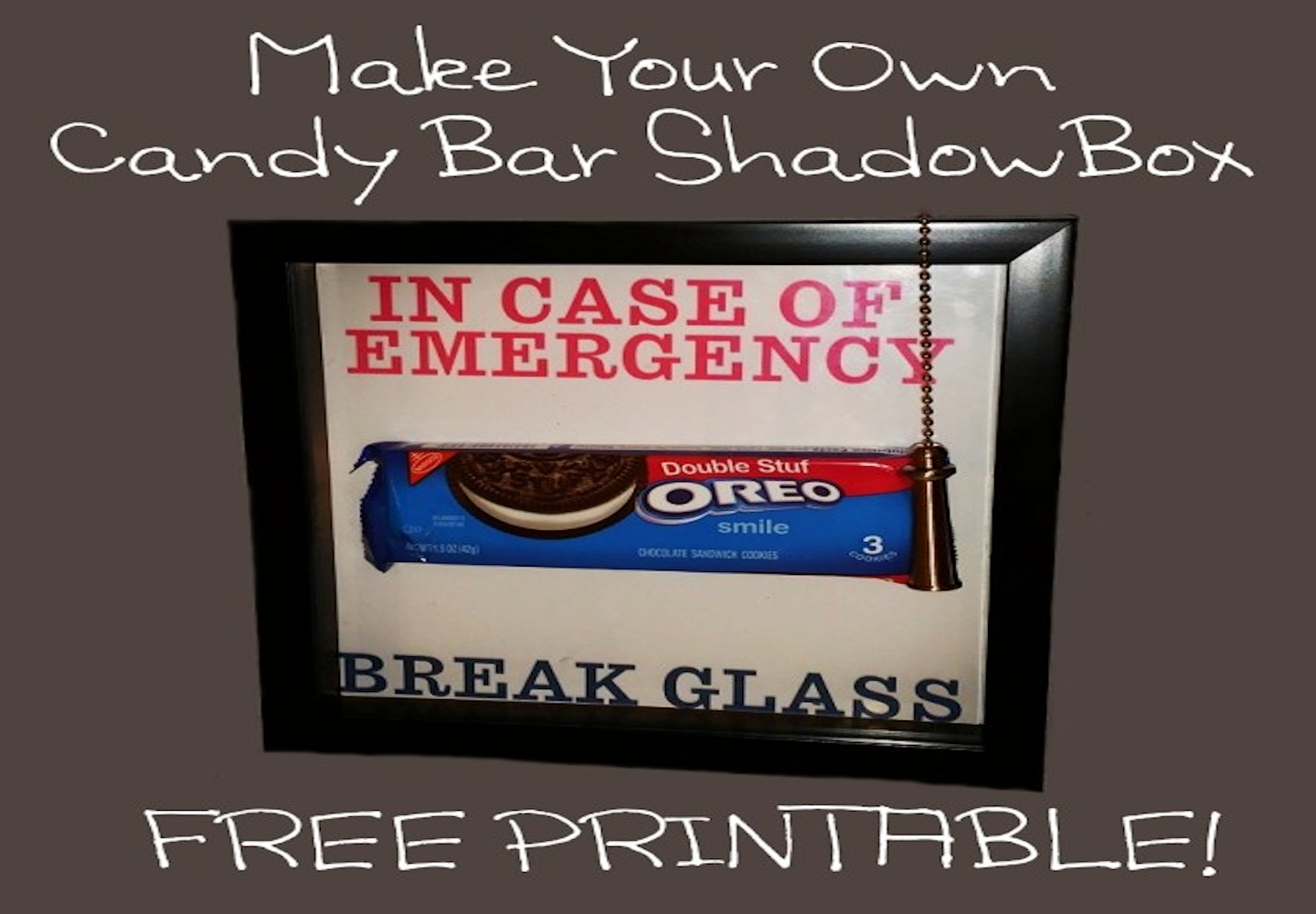 Make Your Own Candy Bar Shadow Box Free Printable