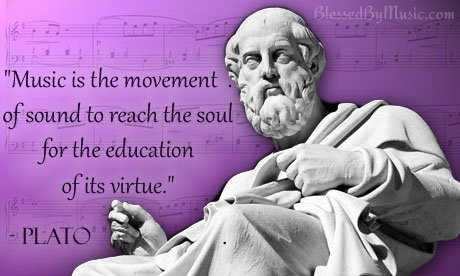 Plato Music Quote | Blessed by Music