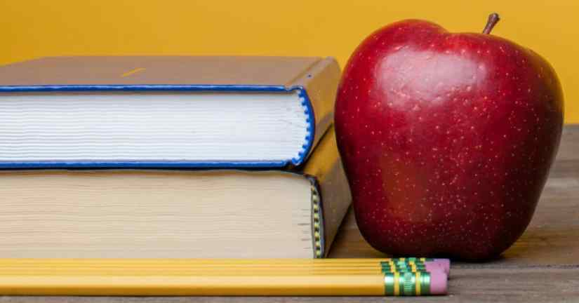 In discerning whether or not to homeschool, ask those you admire for advice. Image of a stack of two books with three pencils and a red apple. Image from lightstock.com.