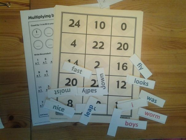 math and grammar manipulatives fall 2013