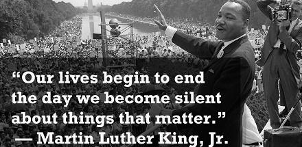 mlk our lives begin to end quote
