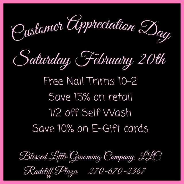 Customer Appreciation Day ~ Today