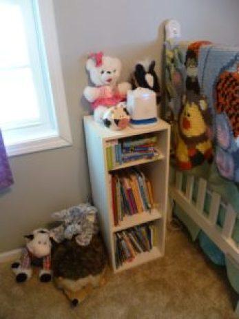 baby bookshelf with sound machine