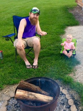 Camping with baby on a budget
