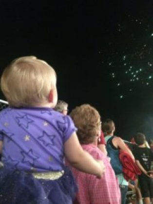 Fireworks can be exciting for some babies and not scary. Pick an appropriate time to introduce them.
