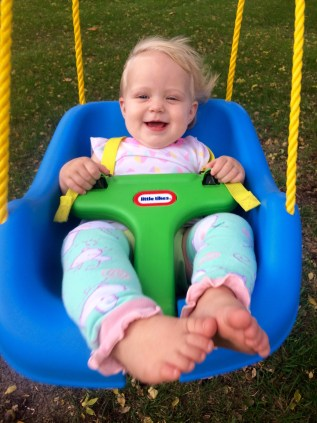 Little Tikes Infant Swing has an easy open T-bar and is super easy to set up!