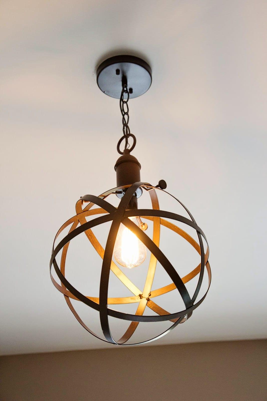 Diy Industrial Rustic Pendant Light  Bless'er House