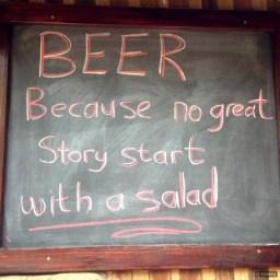 Whacky Sign: No Great Story Starts…