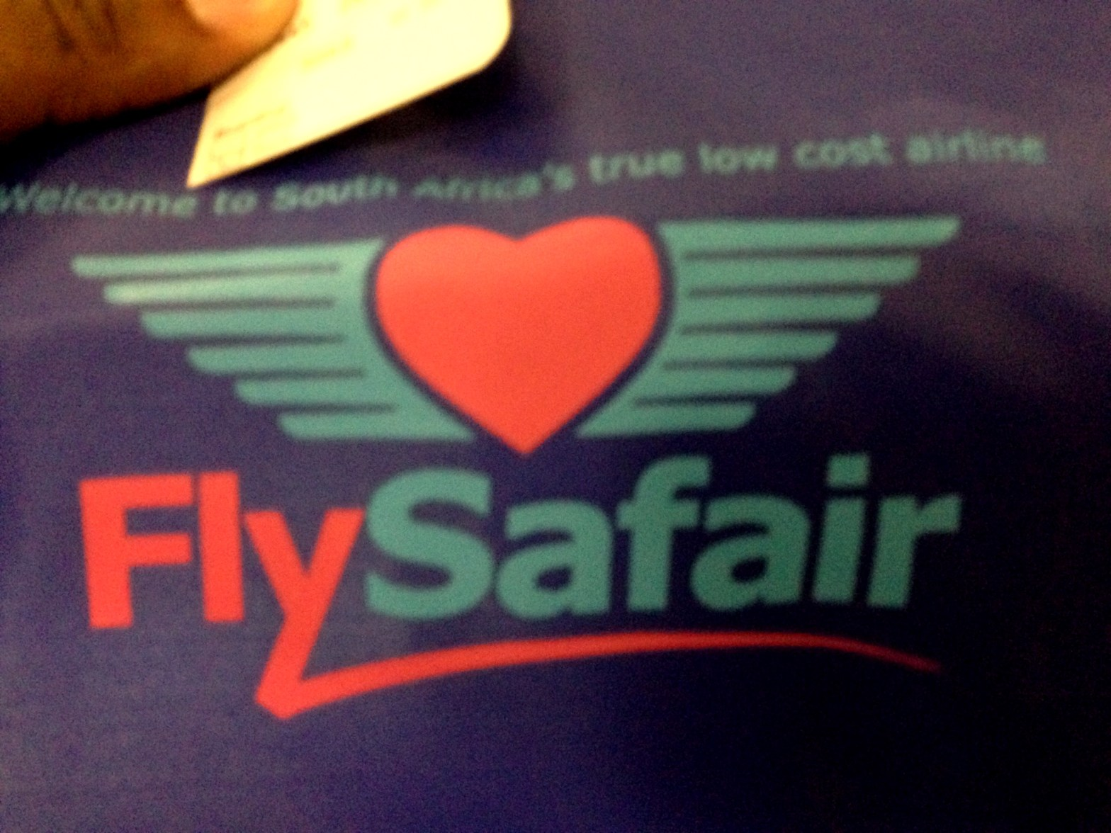 On The First @FlySafair Flight From Cape Town