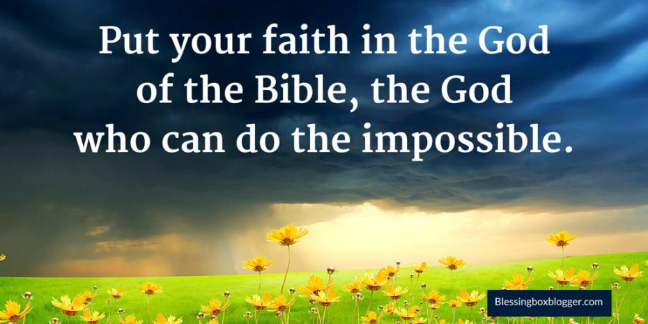 Where To Put Your Faith
