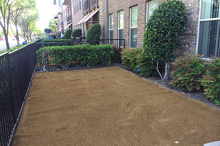 artificial turf base