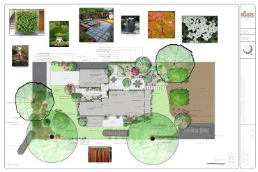 Zen, Modern with water feature and dry creek bed