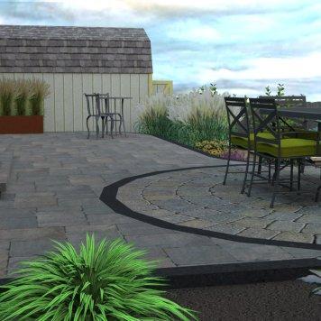 Back yard patio #2 in 3D