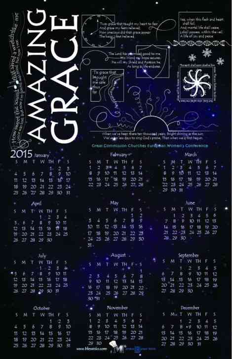 Amazing Grace Calendar by Marsha Baker