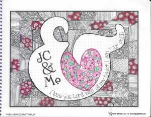 Doodle Devo Friday Jeremiah 31:3 and February Calendar