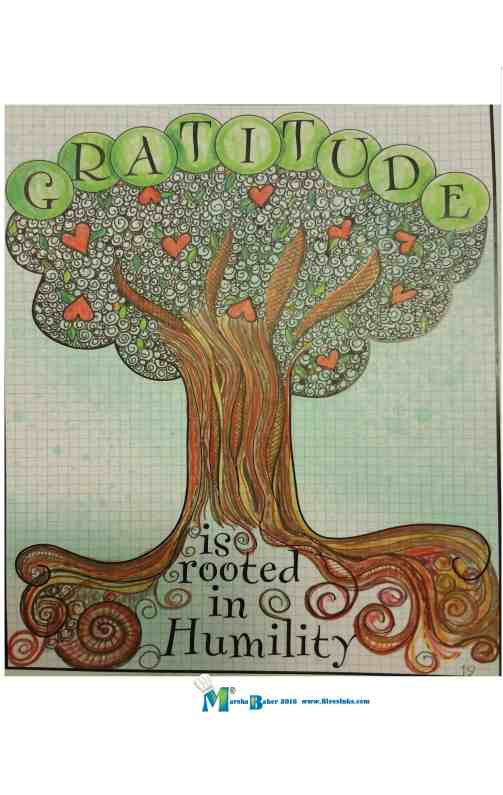gratitude rooted in humility