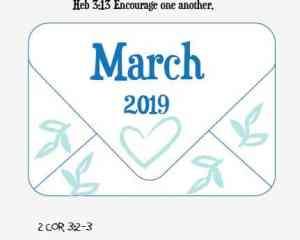 March Bujo Cover