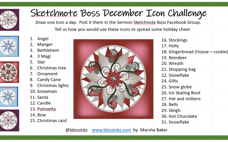 Christmas Sketchnote Challenge Part 1