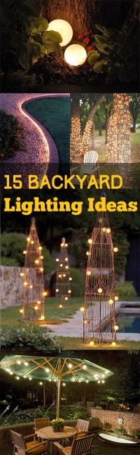 Backyard Lighting: 15 Backyard Lighting Ideas - Bless My Weeds