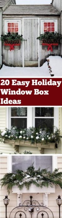 20 Easy Holiday Window Box Ideas - Bless My Weeds