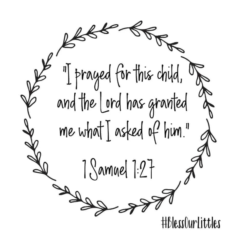 scripture about new baby