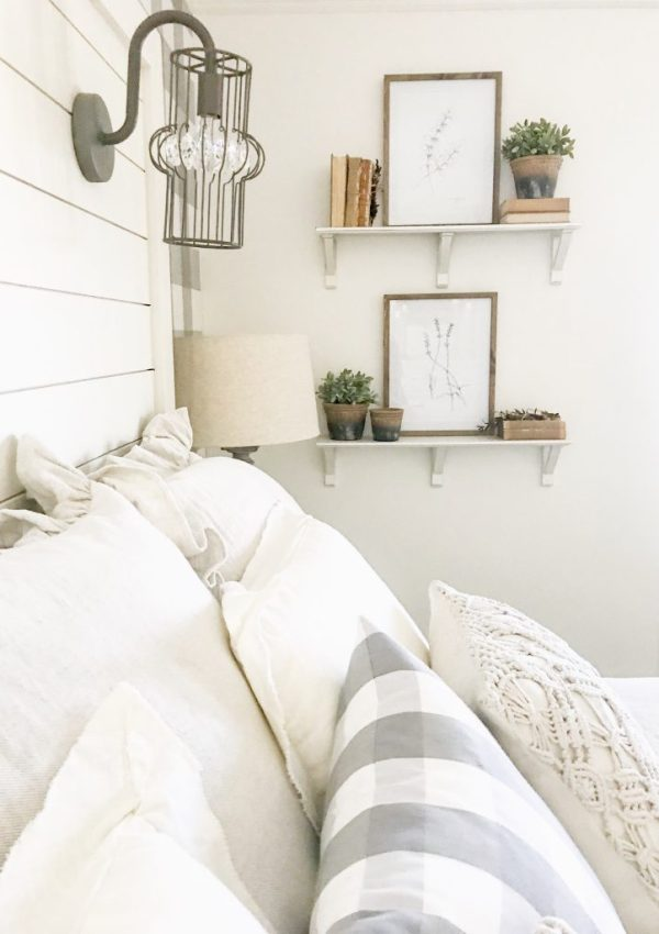 Master Bedroom Makeover Reveal- Farmhouse Style