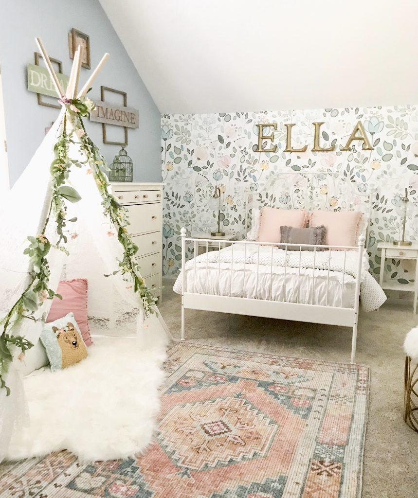 little girl room decor tepee