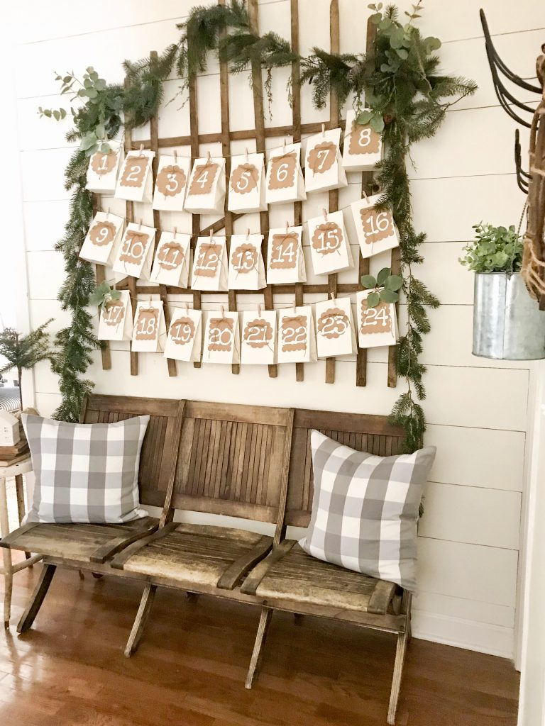 image of diy paper bag advent calendar