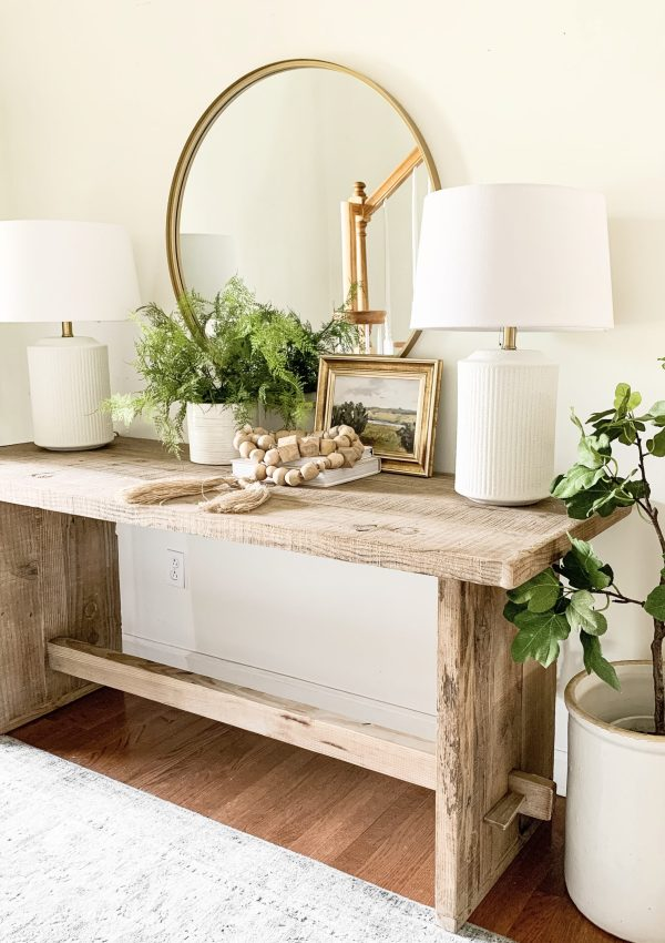 Rustic Modern Entryway Makeover Reveal