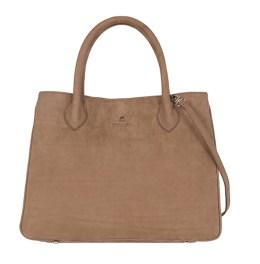 sac de taille moyenne et de forme rectangulaire, fermeture par aimant. modèle Ker Balmoral façon nubuck, de la Maison Renouard