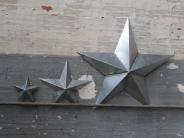 étoile en zinc, Deco Zing esprit loft