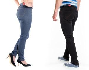 Le 103 Ajusté est un jeans coupe ajustée, taille normale, en 100% coton bio, filé, teint, tissé en France. braguette zip