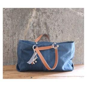 sac canotage moyen bleu canard en toile tissée en Midi Pyrennées
