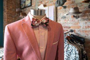 Bleu Bowtique Detroit pink suit and bowtie