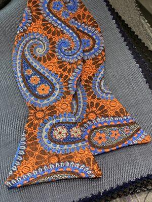 Orange Brown Blue Paisley
