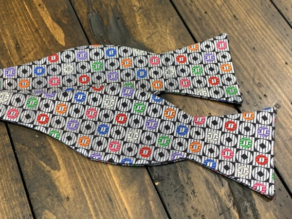 """100% Cotton Self Bow Tie Adjustable Neck Size 14.5"""" - 20"""" Traditional Butterfly"""