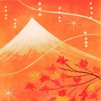 パステルアート『富士と紅葉』