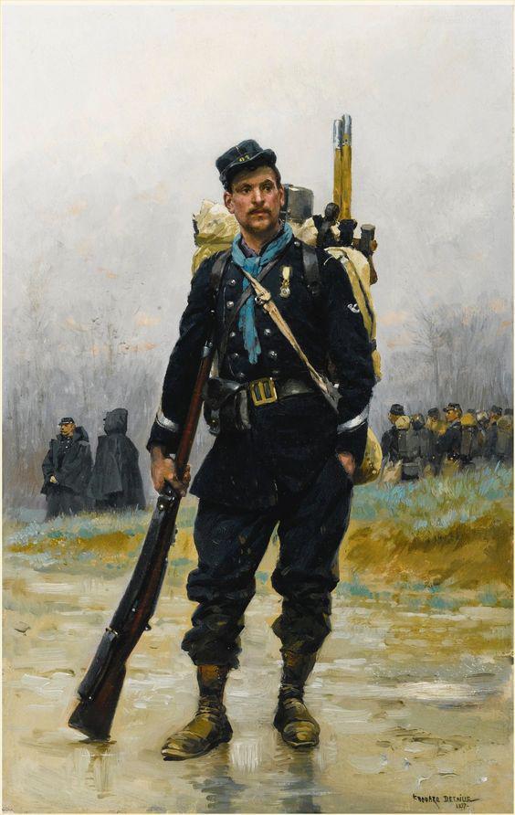 Chasseur d'une Bataillon de chasseurs à pied de marche