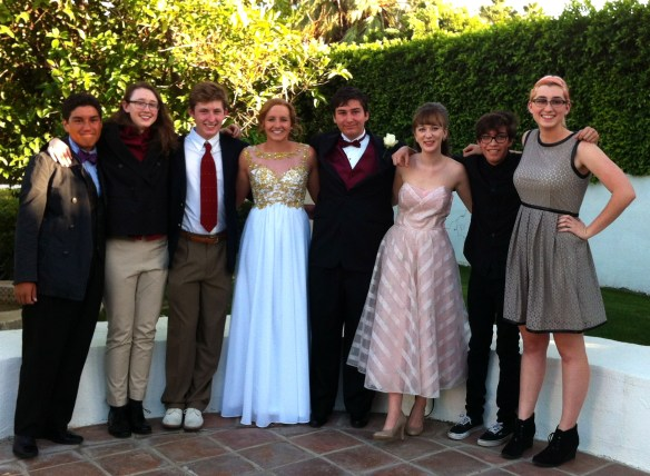high school students prom picture