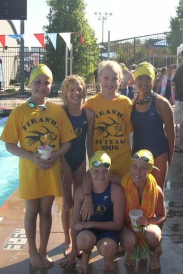 My daughter and teammates at Junior Olympics.