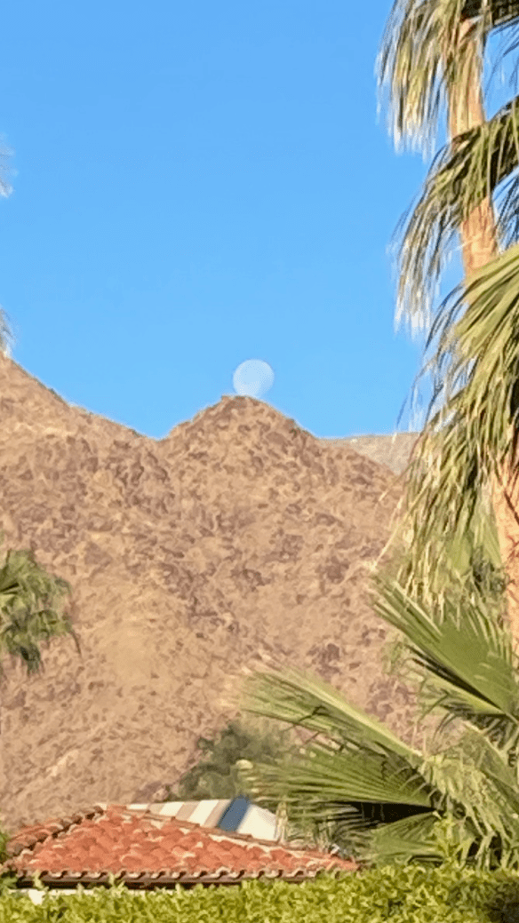 moonrise on mountain