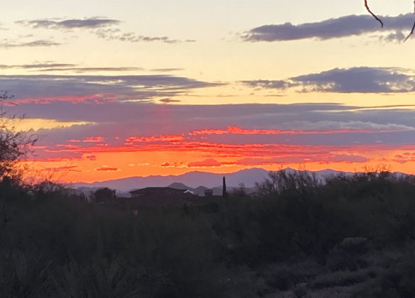 sunset in AZ desert
