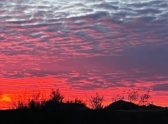 Red sky sunrise
