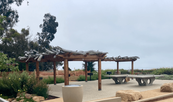 Summerland beach park ping pong tables